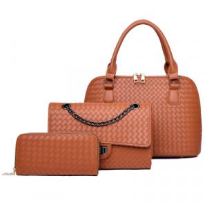 Набор сумок из 3 предметов, арт А42, цвет:коричнево-жёлтый