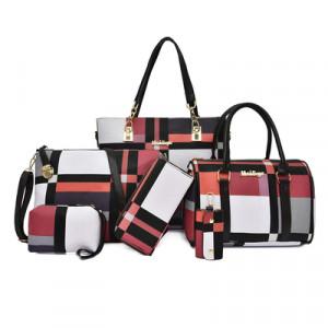 Набор сумок из 6 предметов, арт А43, цвет:красный