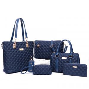 Набор сумок из 6 предметов, арт А44, цвет:синий