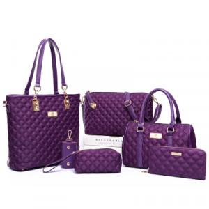 Набор сумок из 6 предметов, арт А44, цвет:фиолетовый