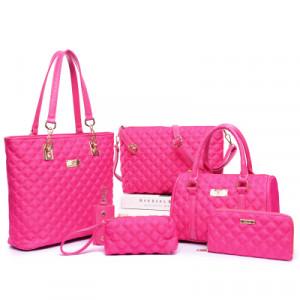 Набор сумок из 6 предметов, арт А44, цвет:розовый