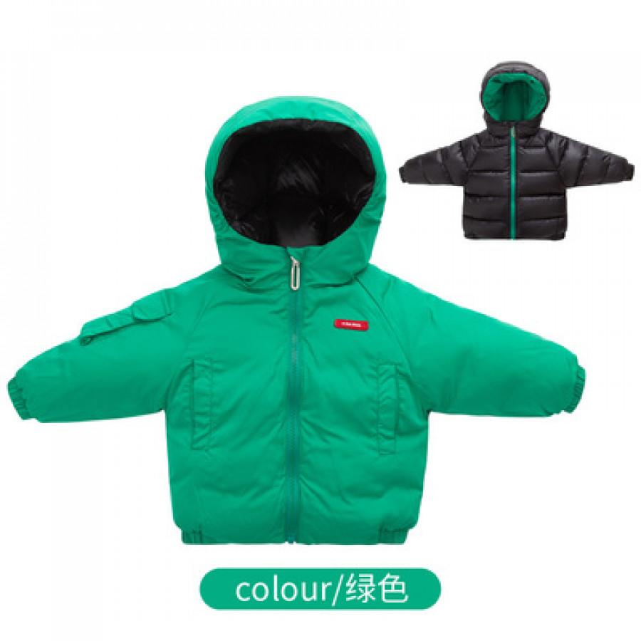 Куртка  детская арт КД23 двусторонняя, цвет: зелёный