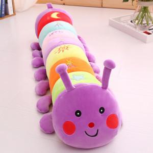 Игрушка-подушка Гусеница, арт ИГ4, цвет:фиолетовый