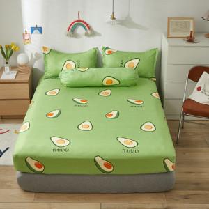 Простынь на резинке арт Н3, цвет: авокадо