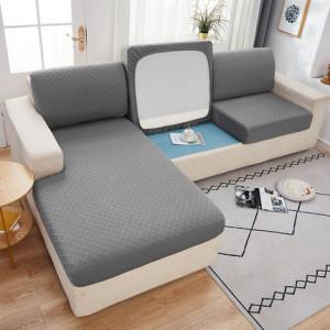 Чехол для дивана арт ДД1, цвет: светло-серый, узор ромб