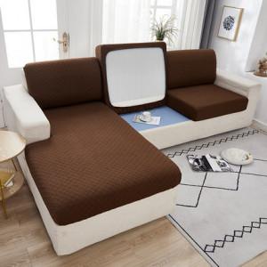 Чехол для дивана арт ДД1, цвет: тёмный кофе, узор ромб