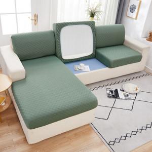 Чехол для дивана арт ДД1, цвет: зелёная фасоль, узор ромб