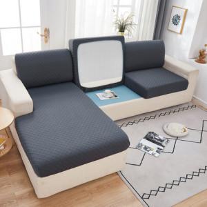 Чехол для дивана арт ДД1, цвет: тёмно-серый, узор ромб