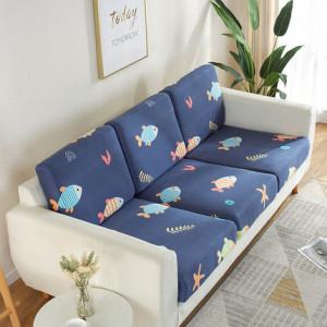 Чехол для дивана арт ДД1, цвет: школа рыб