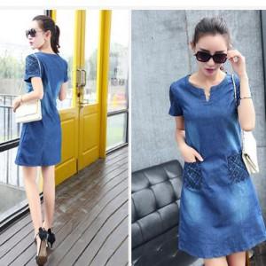 Джинсовое платье Д15 до размера 4XL