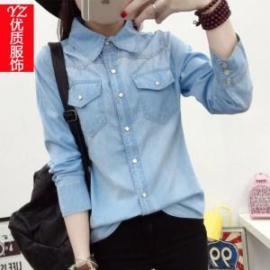 Джинсовая рубашка Д22