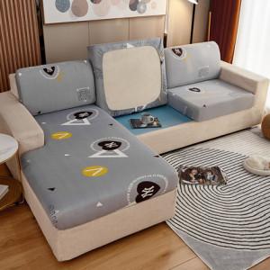 Чехол для дивана арт ДД2, цвет: серый треугольники