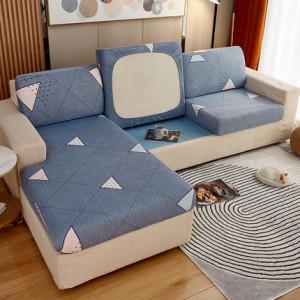 Чехол для дивана арт ДД2, цвет: синий треугольники