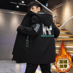 Куртка мужская арт МЖ3, цвет:чёрный BF22 утеплённая