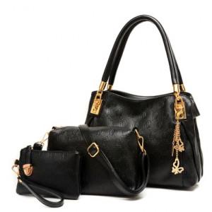 Набор сумок из 3 предметов, арт А41, цвет:чёрный