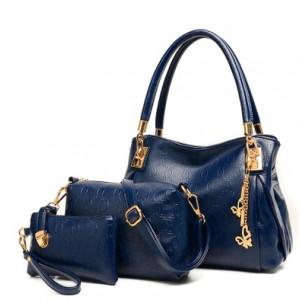 Набор сумок из 3 предметов, арт А41, цвет:синий
