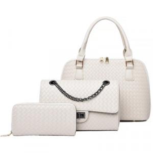 Набор сумок из 3 предметов, арт А42, цвет:белый