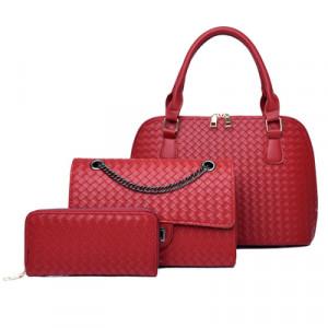 Набор сумок из 3 предметов, арт А42, цвет:красный