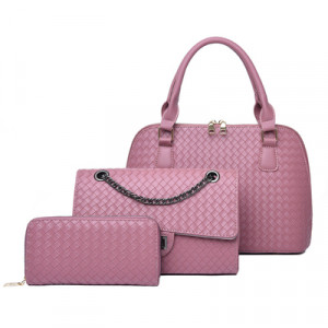 Набор сумок из 3 предметов, арт А42, цвет:розовый