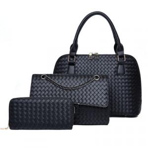 Набор сумок из 3 предметов, арт А42, цвет:чёрный