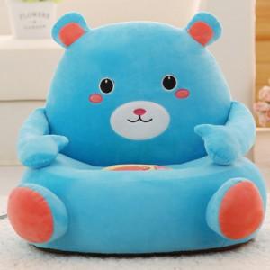 Детское кресло арт.ДМК01,цвет:Сине-голубой Медведь