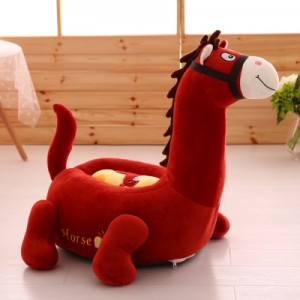 Детское кресло арт.ДМК01,цвет:Красно-коричневая Лошадь
