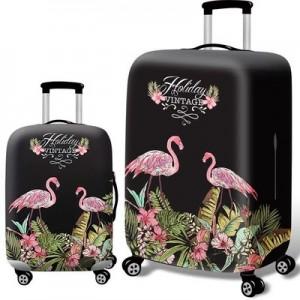 Чехол для чемодана арт.ЧЧ07,цвет: Пара Фламинго