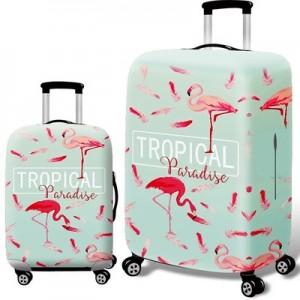Чехол для чемодана арт.ЧЧ07,цвет:  Фламинго