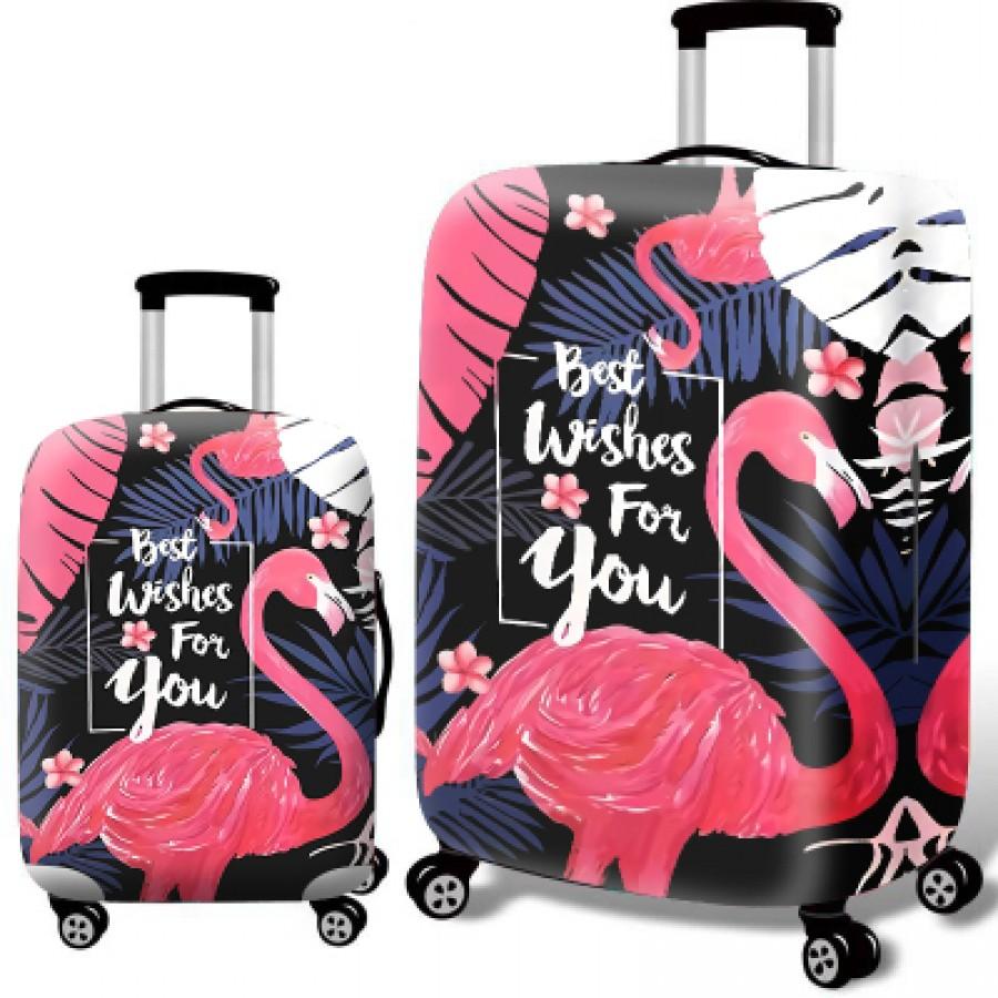 Чехол для чемодана арт.ЧЧ08,цвет: Лучший Фламинго