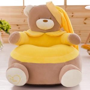 Детское кресло арт.ДМК01,цвет:Желтый Мишка