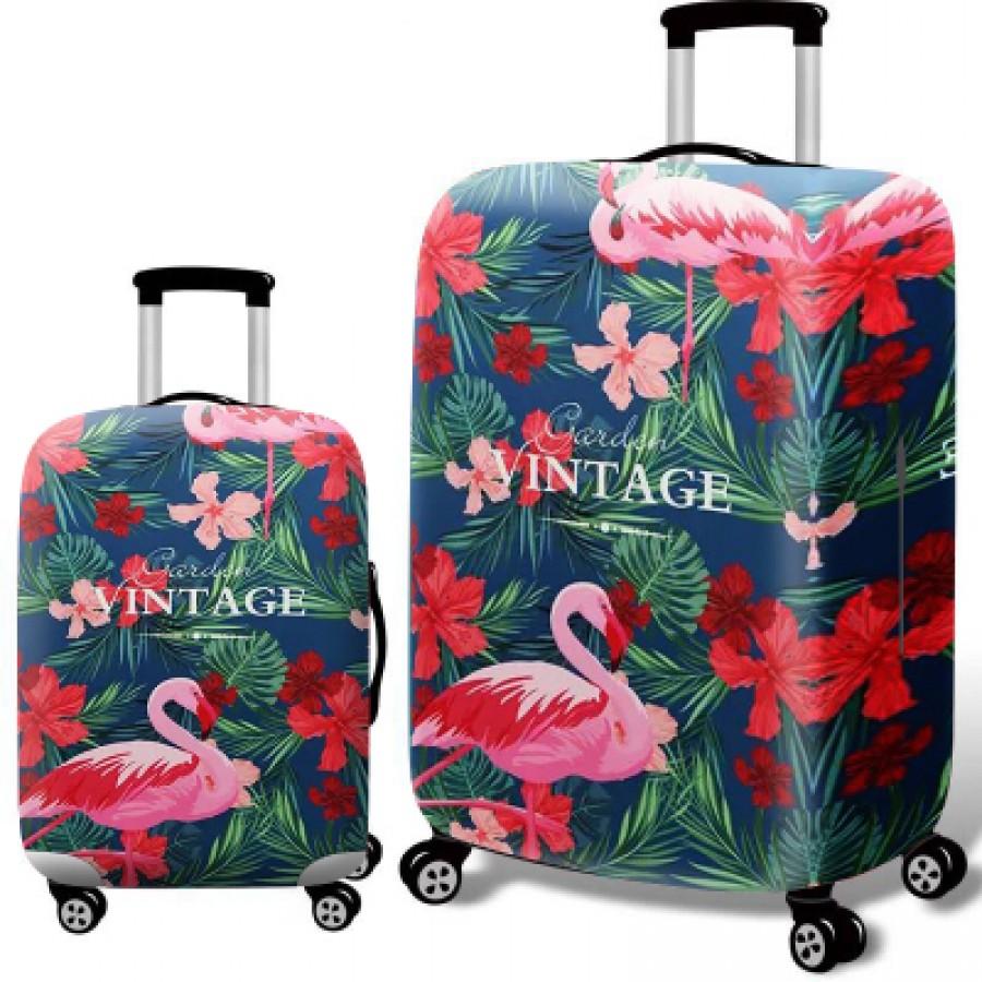 Чехол для чемодана арт.ЧЧ08,цвет: Сафлор Фламинго