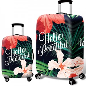 Чехол для чемодана арт.ЧЧ09,цвет: Красивый цветок