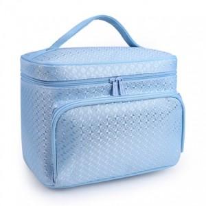 Бьюти бокс арт.ББ05,цвет: Синий алмазная решетка