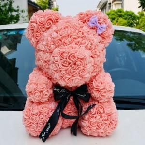 Мишка из роз арт.МР100,цвет: Элегантный Розовый