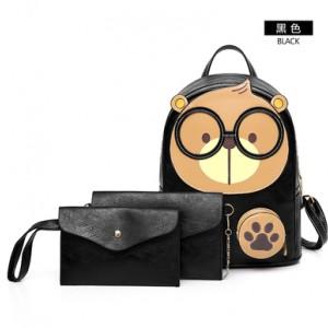 Рюкзак набор из 3 предметов арт.Р394,цвет: Черный
