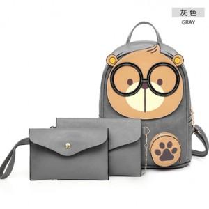 Рюкзак набор из 3 предметов арт.Р394,цвет: Светло-Серый