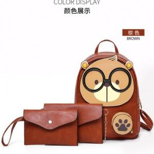 Рюкзак набор из 3 предметов арт.Р394,цвет: Светло-Коричневый