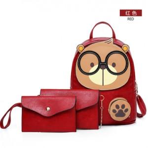 Рюкзак набор из 3 предметов арт.Р394,цвет: Красный