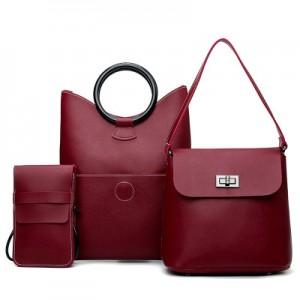 Набор сумок из 3 предметов арт.А590,цвет: Красный