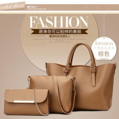 Набор сумок из 3 предметов арт.А592,цвет: Коричневый