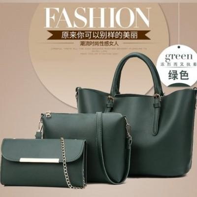 Набор сумок из 3 предметов арт.А592,цвет: Зеленый
