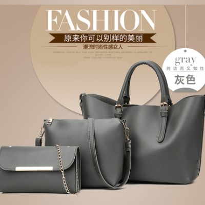 Набор сумок из 3 предметов арт.А592,цвет: Серый
