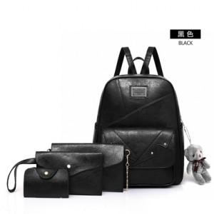 Рюкзак набор из 4 предметов арт.Р395,цвет: Черный
