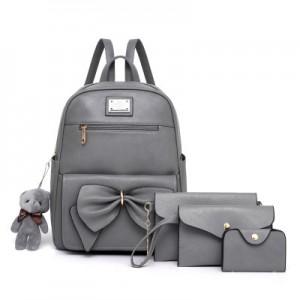 Рюкзак набор из 4 предметов арт.Р396,цвет: Серый