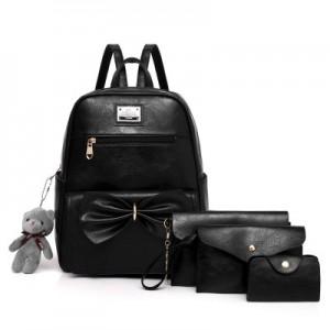 Рюкзак набор из 4 предметов арт.Р396,цвет: Черный