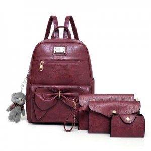 Рюкзак набор из 4 предметов арт.Р396,цвет: Розовый