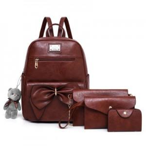Рюкзак набор из 4 предметов арт.Р396,цвет: Коричневый