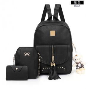 Рюкзак набор из 3 предметов арт.Р397.цвет: Черный
