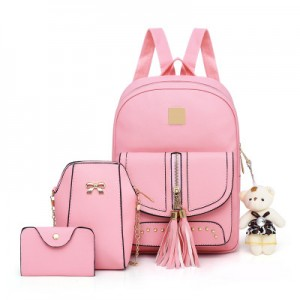 Рюкзак набор из 3 предметов арт.Р397.цвет: Розовый