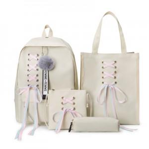 Рюкзак набор из 4 предметов арт.Р398,цвет: Бежевый
